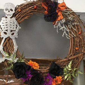 🔆Halloween faux floral wreath🔆